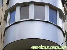 Остекление лоджий и балконов в киеве (044) 361-34-36 пластик.