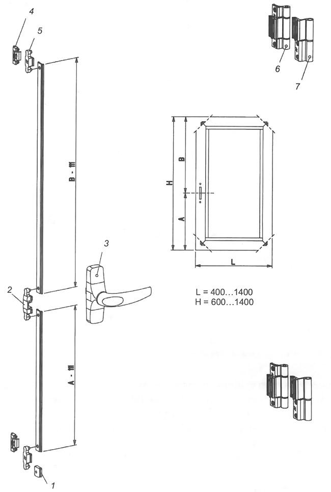Фурнитура для пластиковых окон и дверей 3 (044) 361-34-36 пластиковые окна Киев